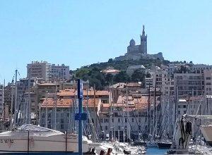 View up to Notre-Dame de la Garde