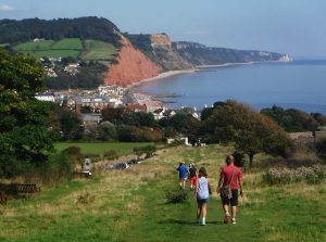 Sidmouth from the west cliff