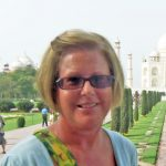 The author at the Taj Mahal