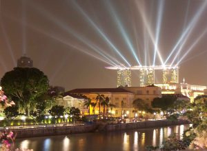 Singapore: New Year light show at Marine Bay Sands Hotel