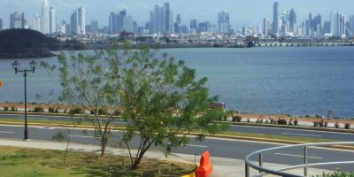 View of Panama City from Biomuseo