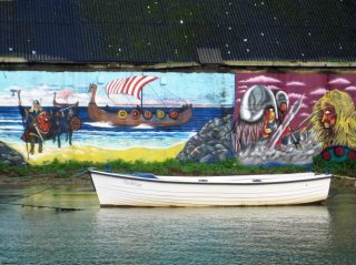 Mural at Wicklow Harbour