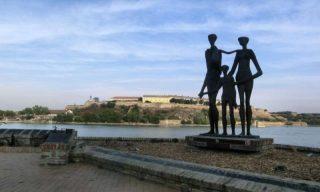 Across the Danube to Novi Sad Fortress