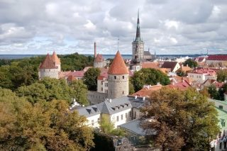 Tallinn from a Toompea Hill viewing platform