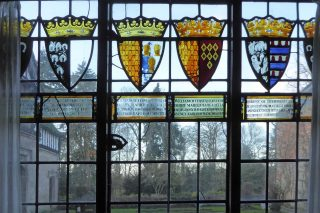 Baddesley Clinton decorated window
