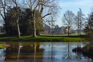 View over the Lake to Croome Court