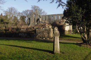Approaching Jervaulx Abbey