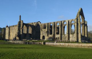 Spectacular ruins of Bolton Abbey