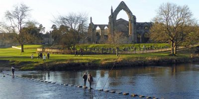 Bolton Abbey from across the River Wharfe
