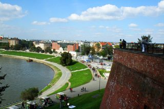 Vistula River from Wawel Castle Walls