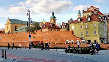 Wall round Warsaw Old Town