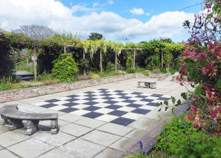 Chess board in the Walled Garden
