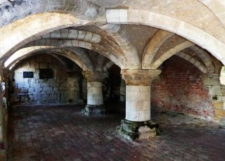 Norman undercroft of the Manor House