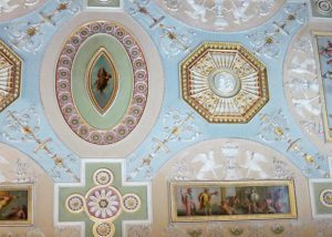 Robert Adam ceiling in the Gallery