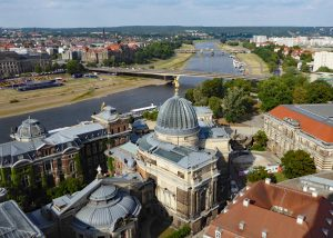 Dresden: View from Frauenkirche over the Elbe