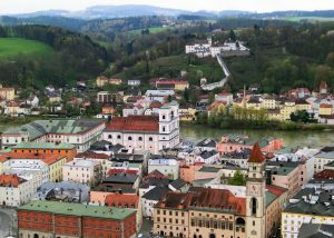 Passau Old Town from the Fortress