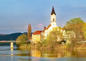 St Gertraud Church by the River Inn